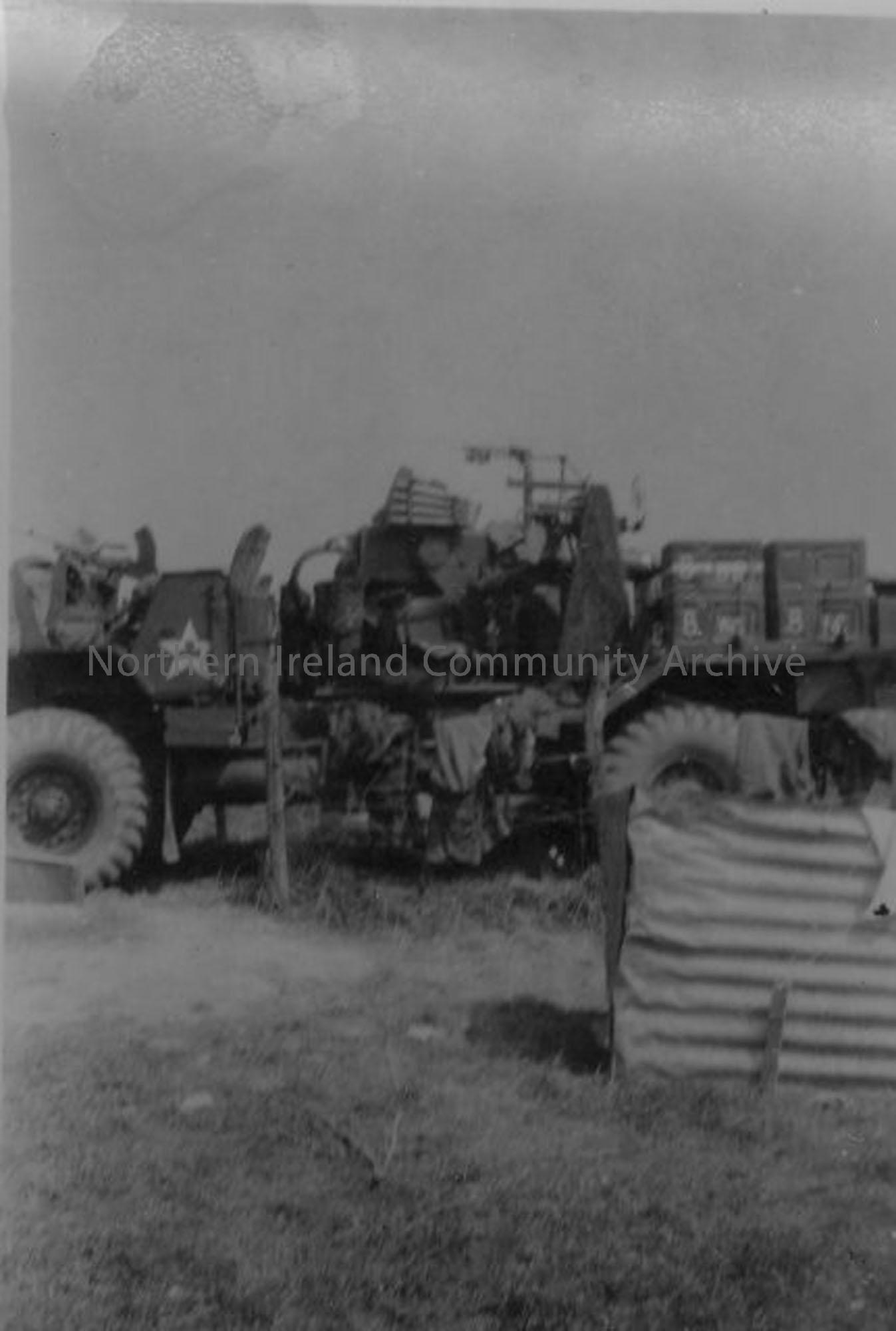 Army Vehicle and SP Bofors Gun