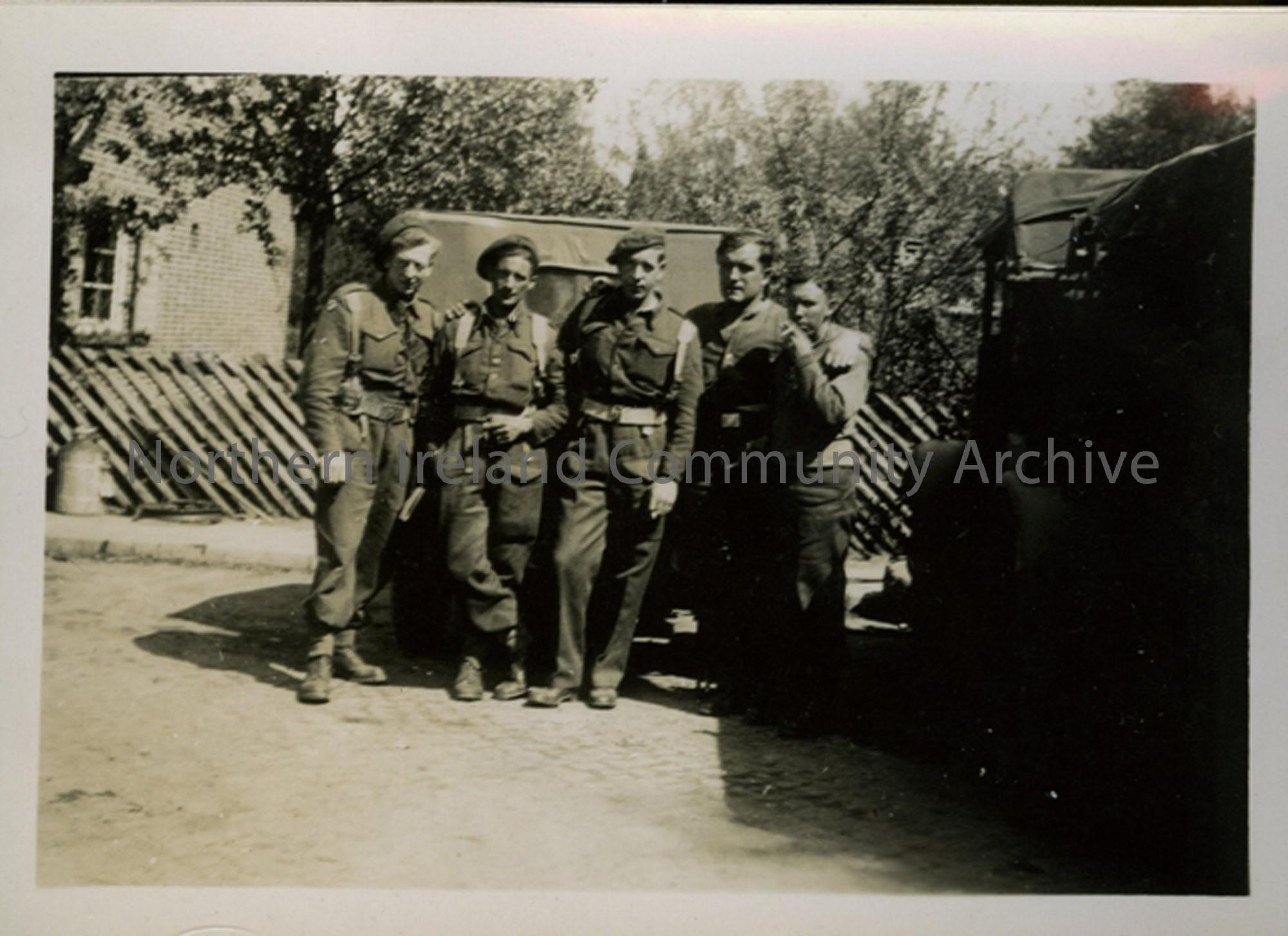 Group of soldier in Damme, Germany