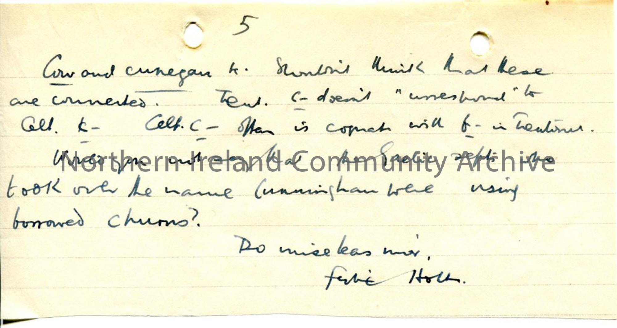 Page 5 of 5, Letter dated 15.9.1942