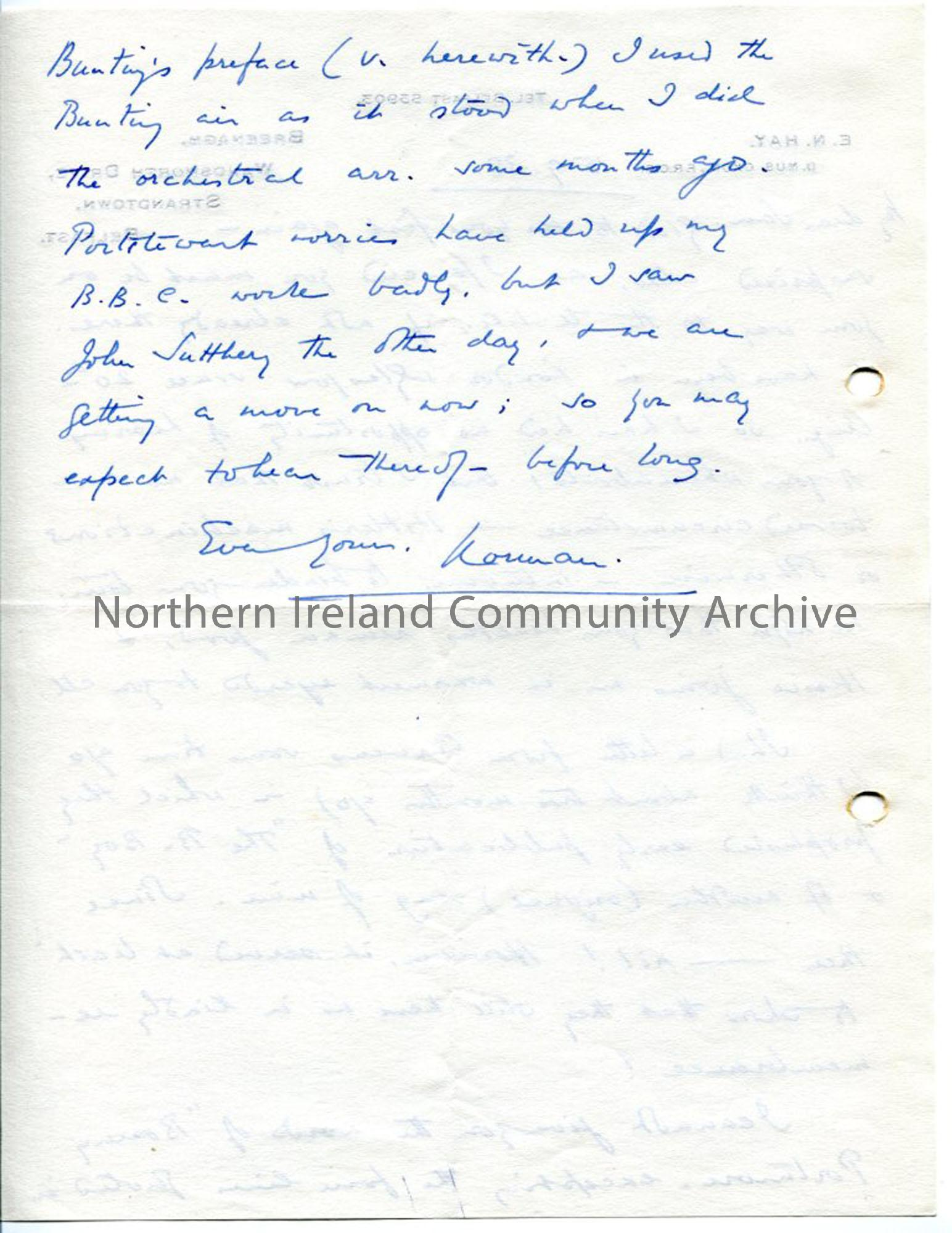 Page 2 of 2: Letter from Norman Hay, 15.9.1938.
