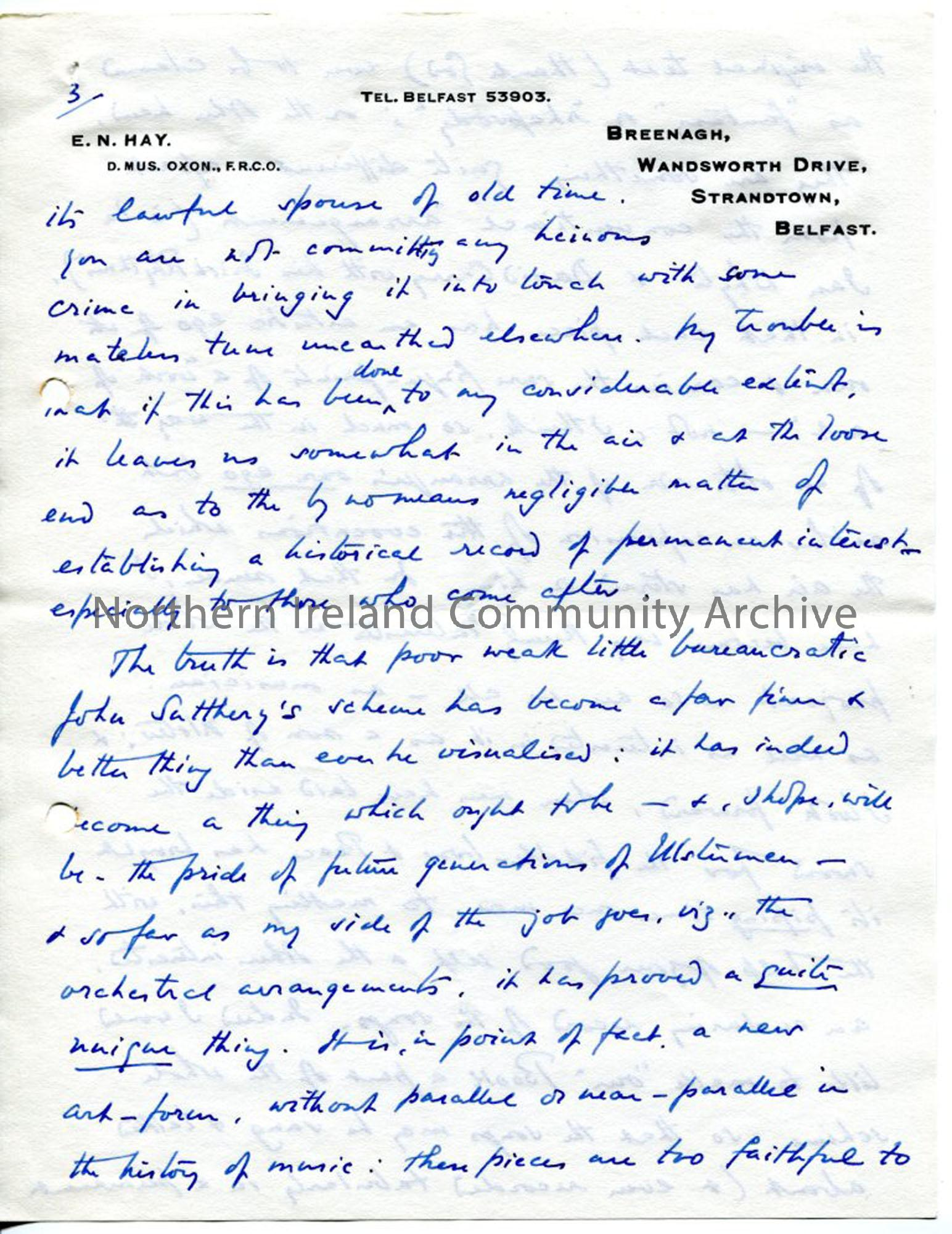 Page 5 of 8 – Letter from Norman Hay, 27.9.1939