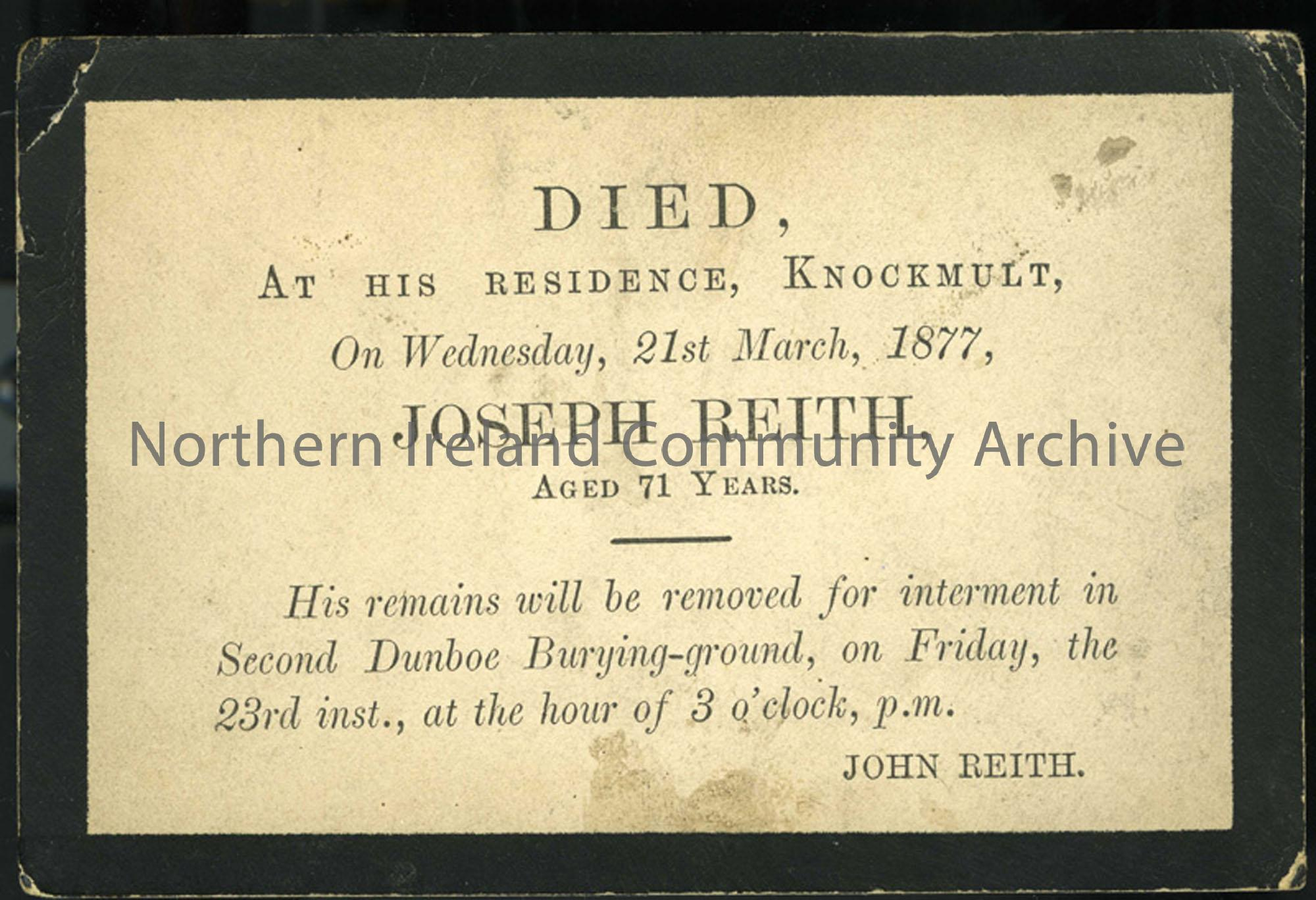 Funeral Card (6745)