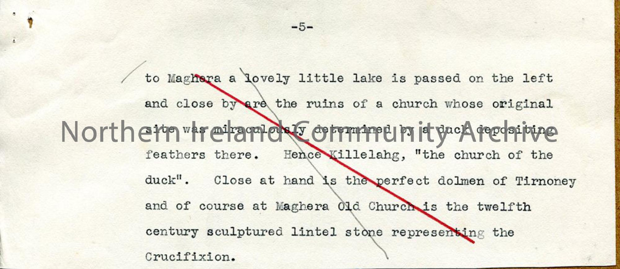 Page 5 of 10: Draft Script for 'Undiscovered Ulster – County Londonderry'