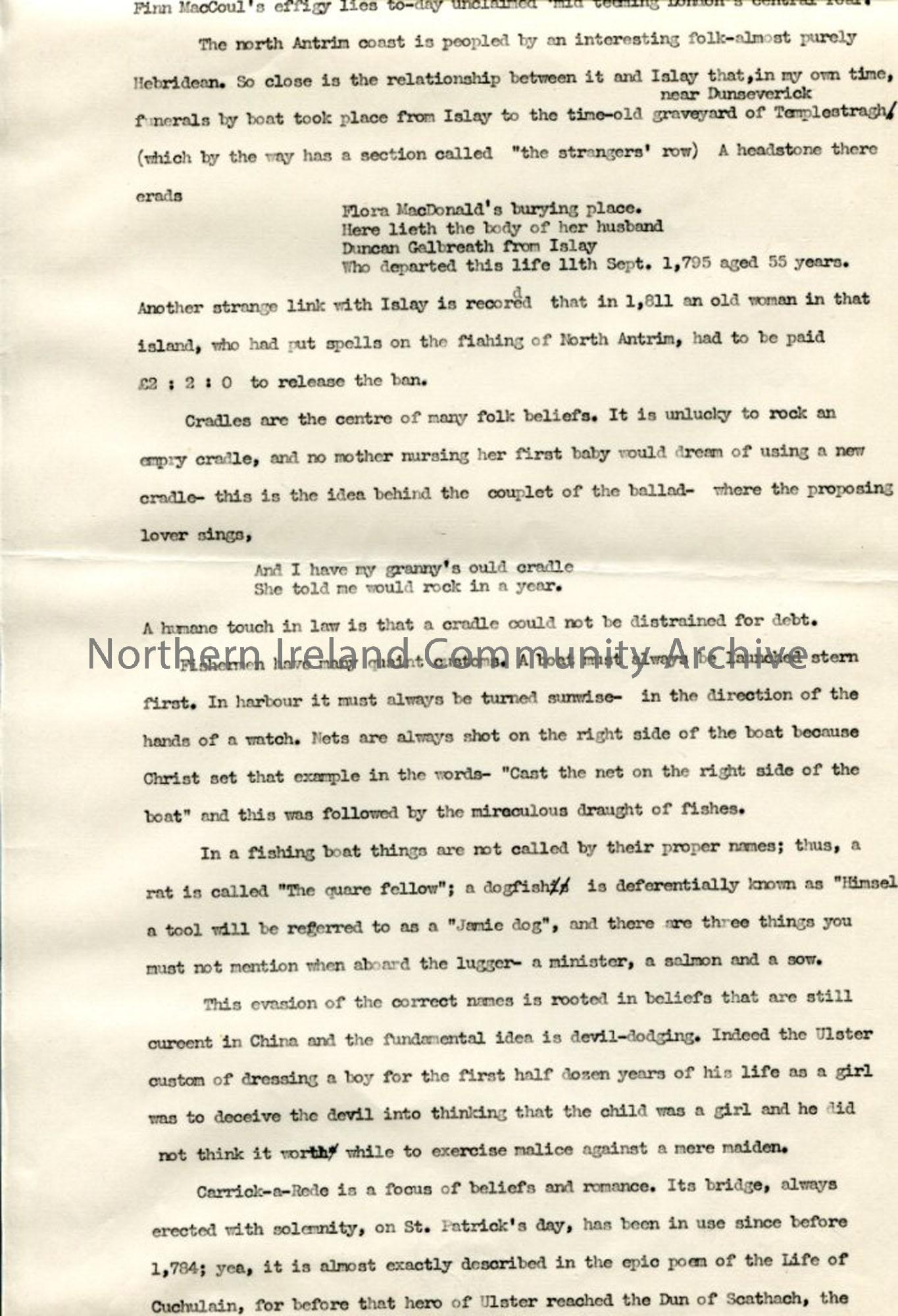 Page 5 of 13 – Script – 'Undiscovered Ulster – Co. Antrim'