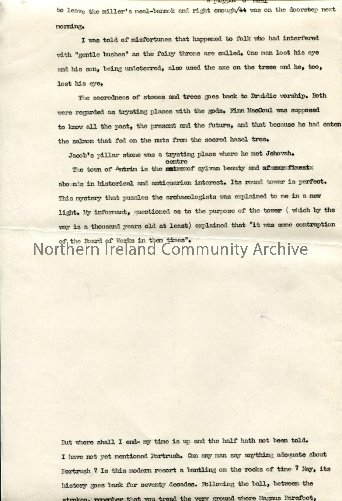 Page 9 of 13 – Script – 'Undiscovered Ulster – Co. Antrim'