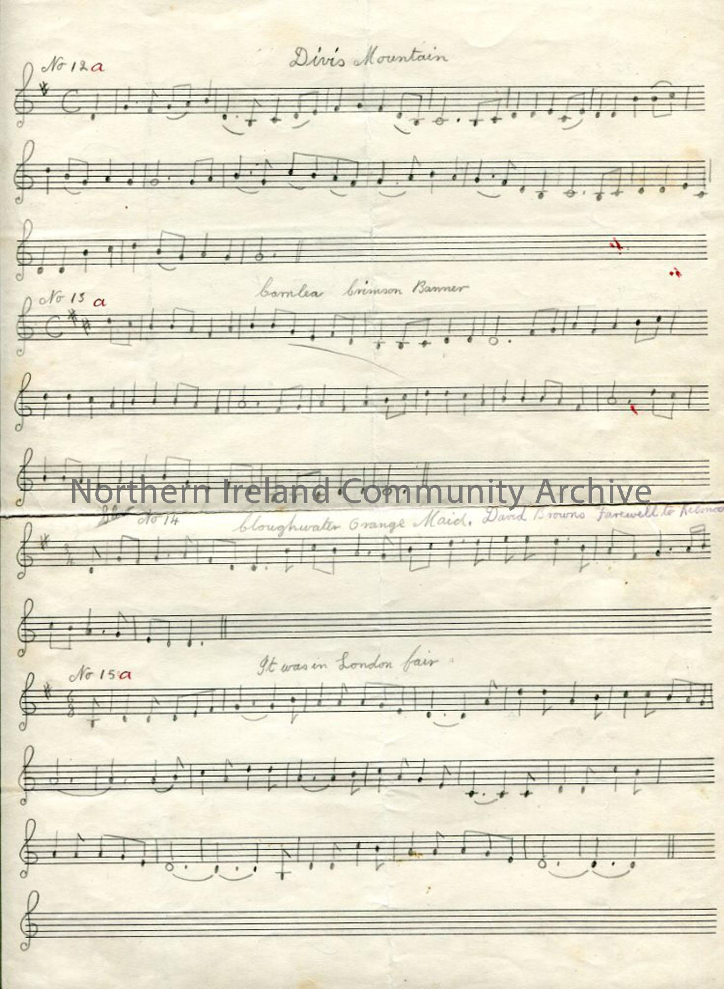 Page 1 of 2 – Staff Notation to Various Tunes