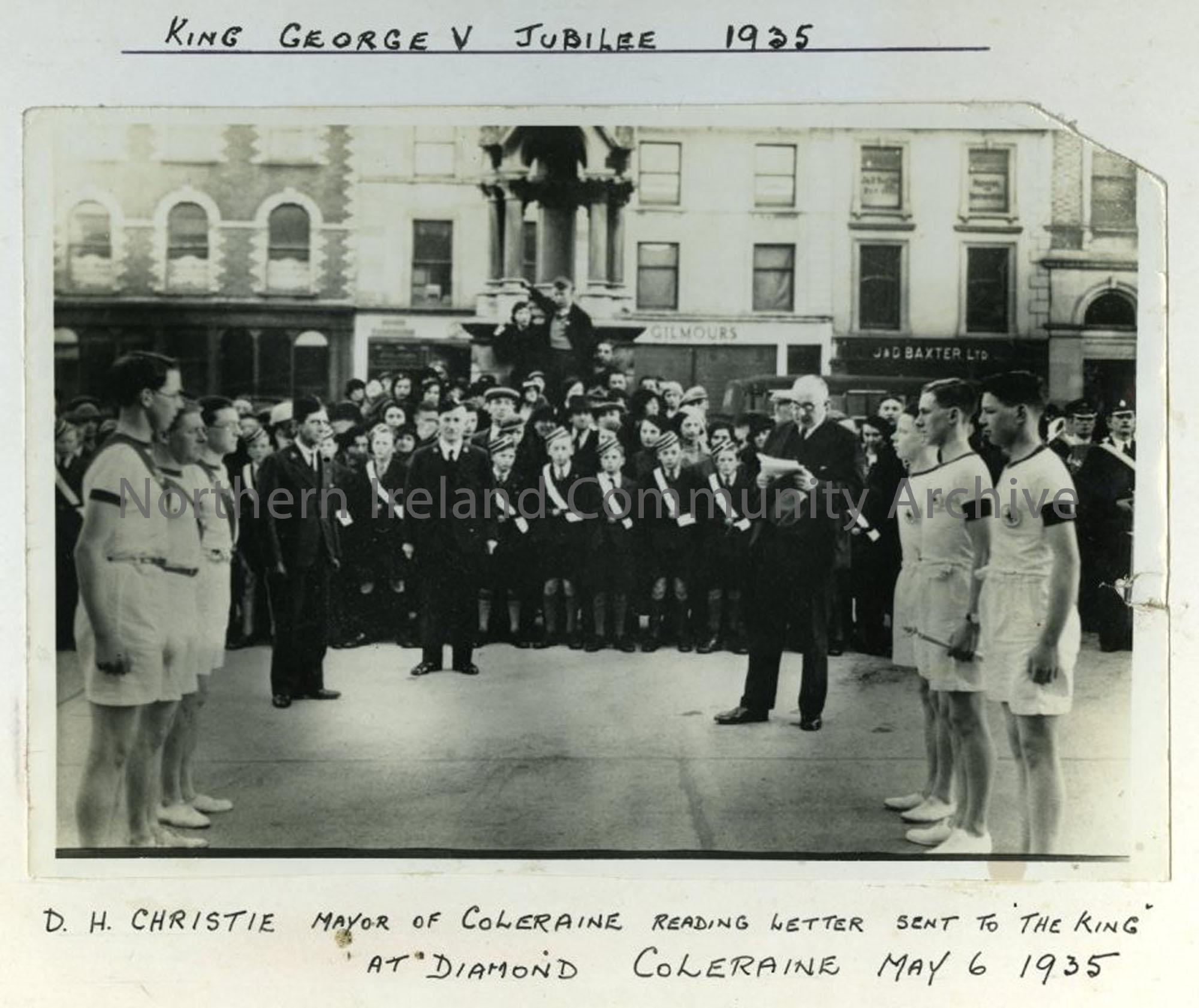 King George the V Jubilee at Diamond Coleraine, 1935