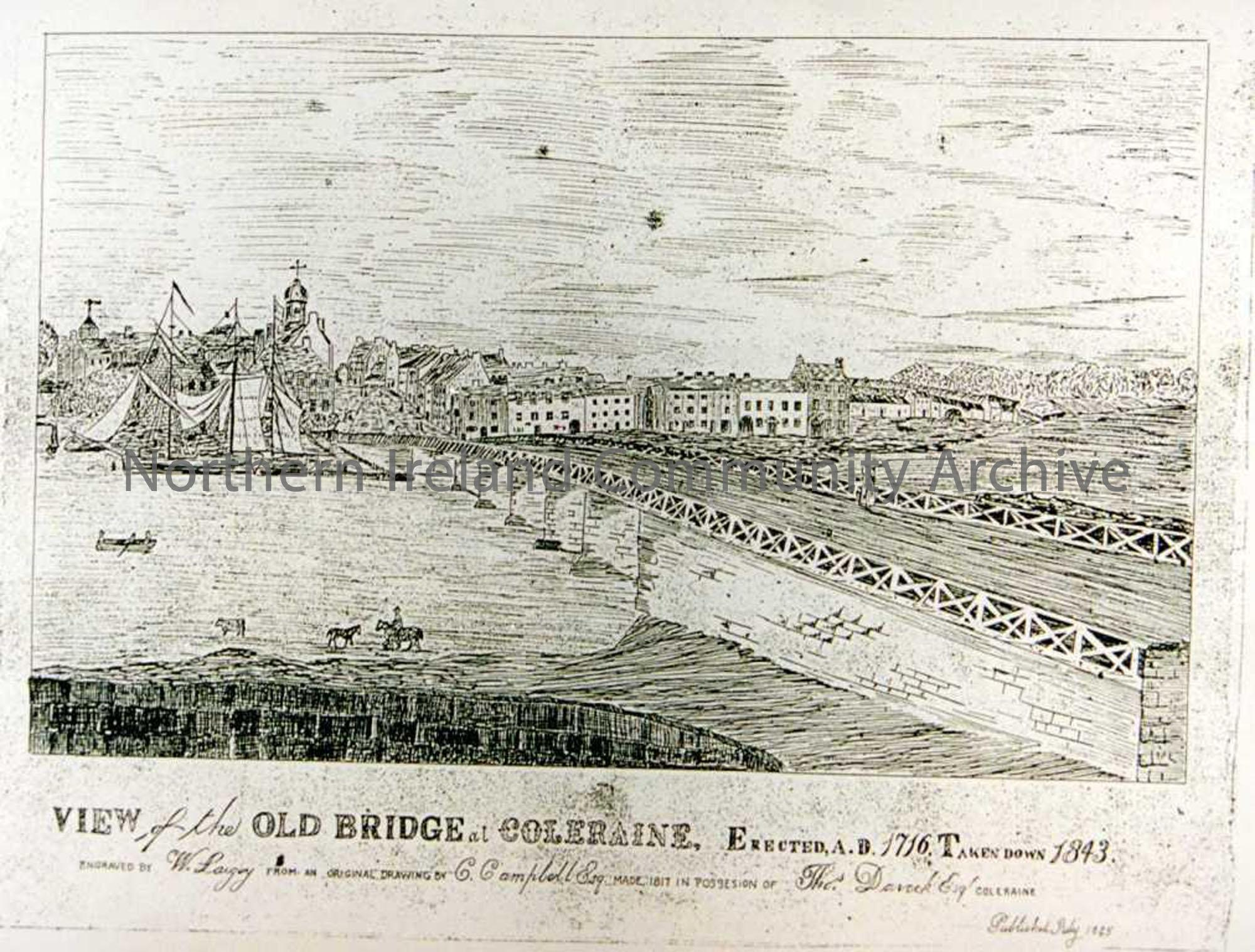 Drawing Old Bridge Coleraine