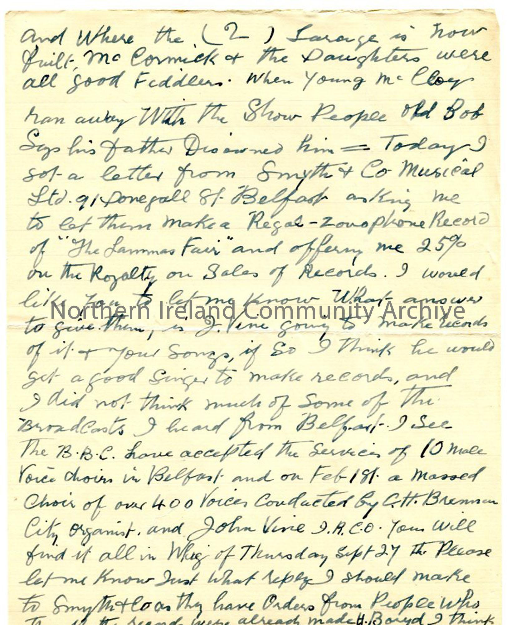 Letter, page 2 of 2, from John MacAulay, 28.9.1934