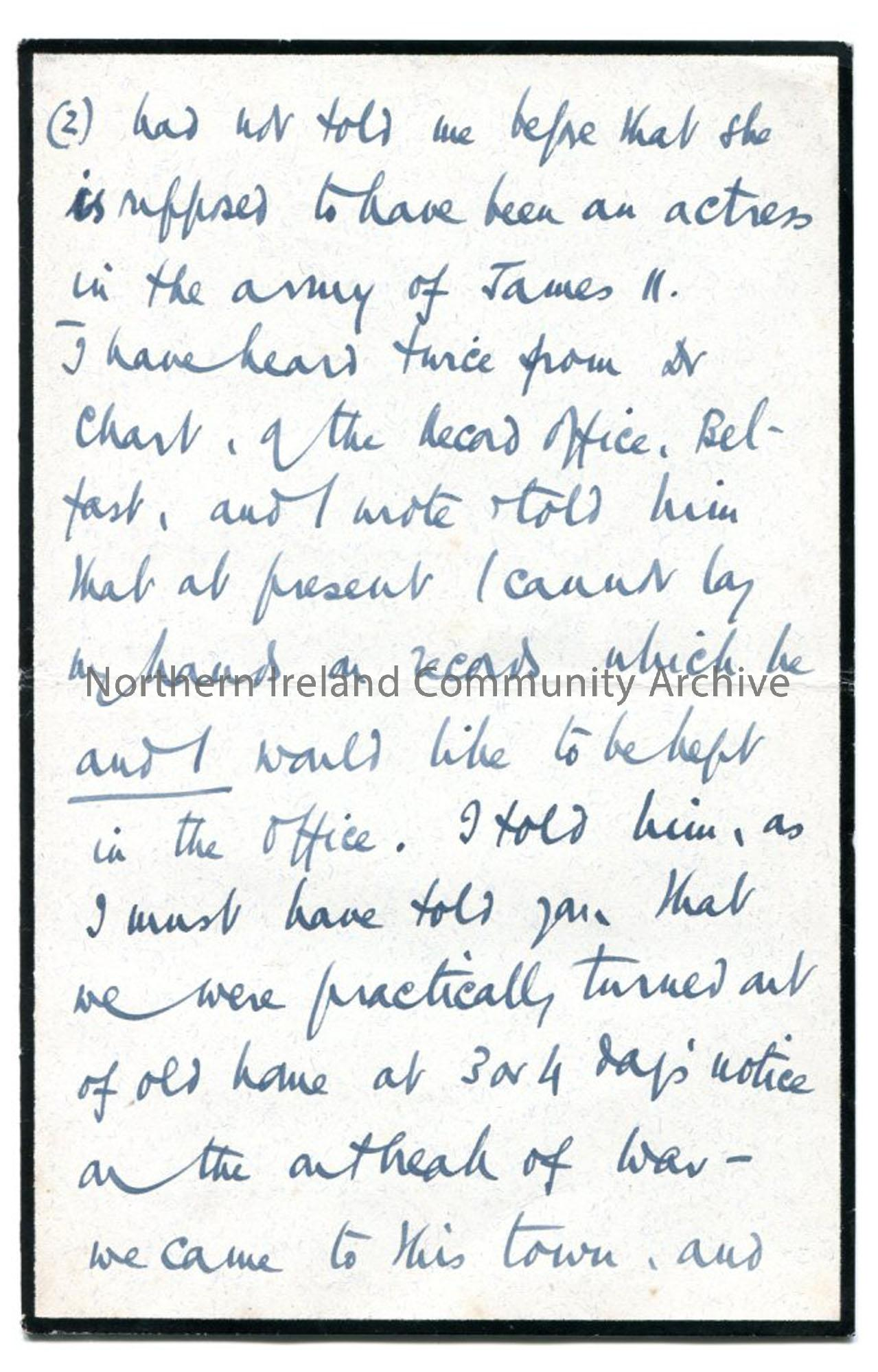 Page four of letter from Rev Trelawney-Ross, 25.9.1942
