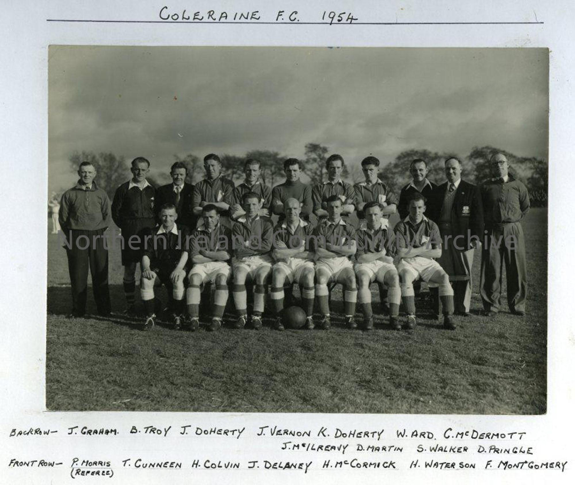 Coleraine Football Club 1954
