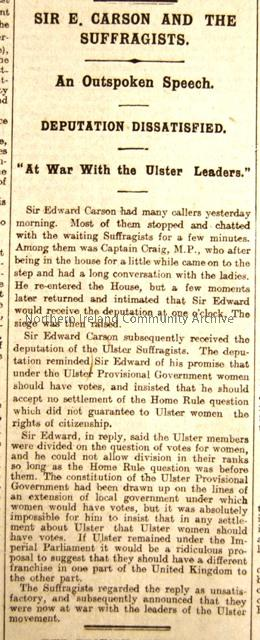 """Sir E Carson and the Suffragists"""