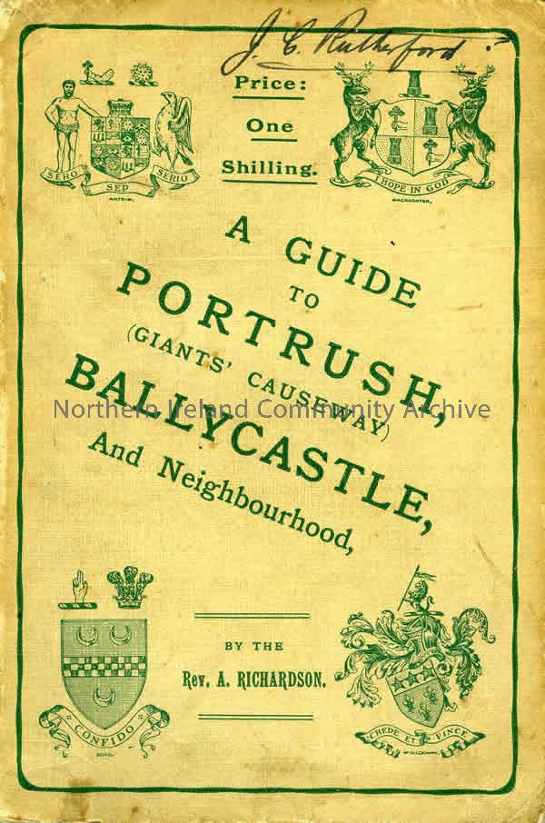 book titled, A Guide to Portrush (Giants' Causeway) Ballycastle, And Neighbourhood. By the Rev.A.Richardson (2385)