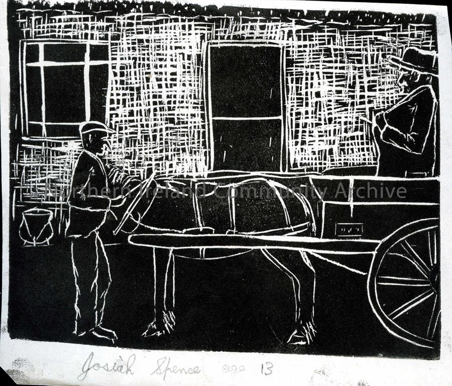 Lino print by Josiah Spence