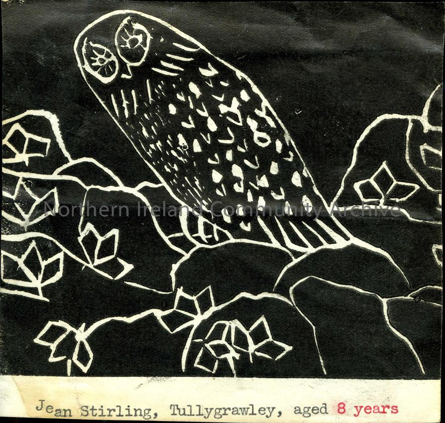 Lino print by Jean Stirling