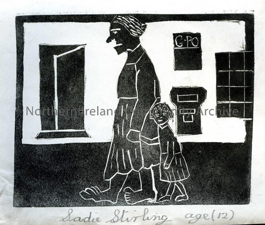 Lino print by Sadie Stirling (2)