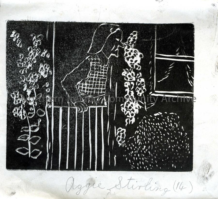 Lino print by Aggie Stirling