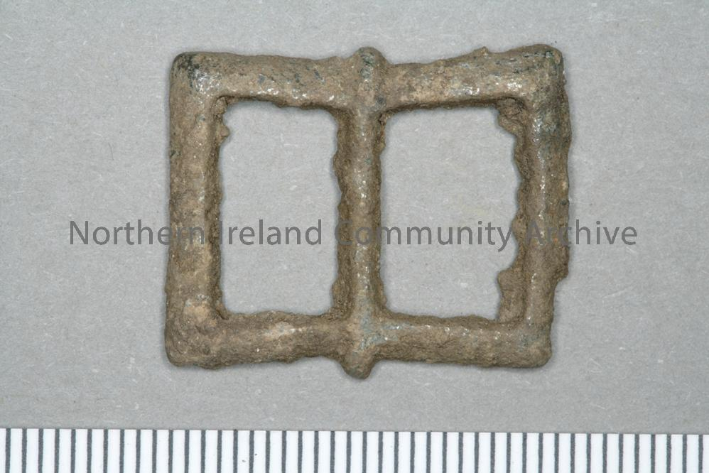 bronze buckle found during the excavation at Dunluce Town