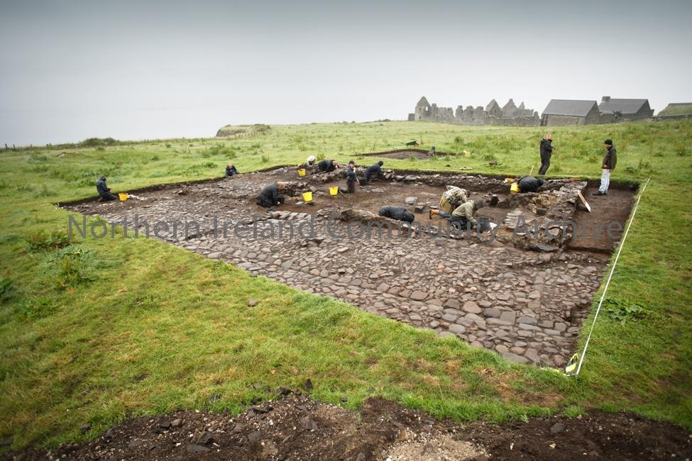 Excavation of a merchant's house at Dunluce Town, 2009