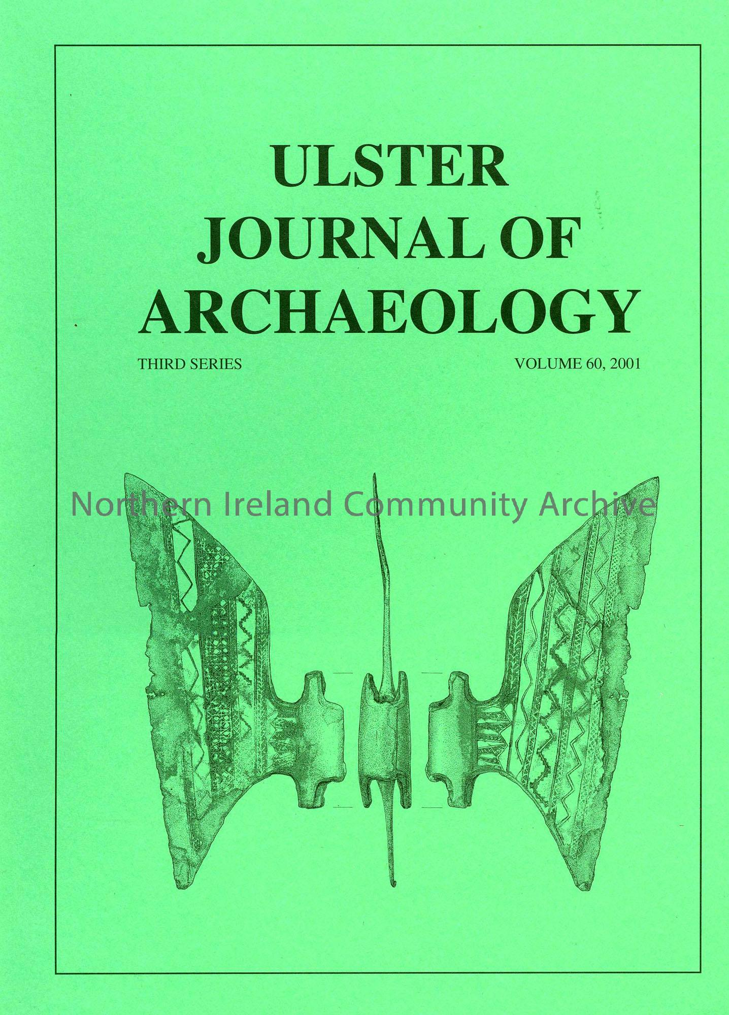 book titled, Ulster Journal of Archaeology. Third Series Volume 60, 2001 (5540)