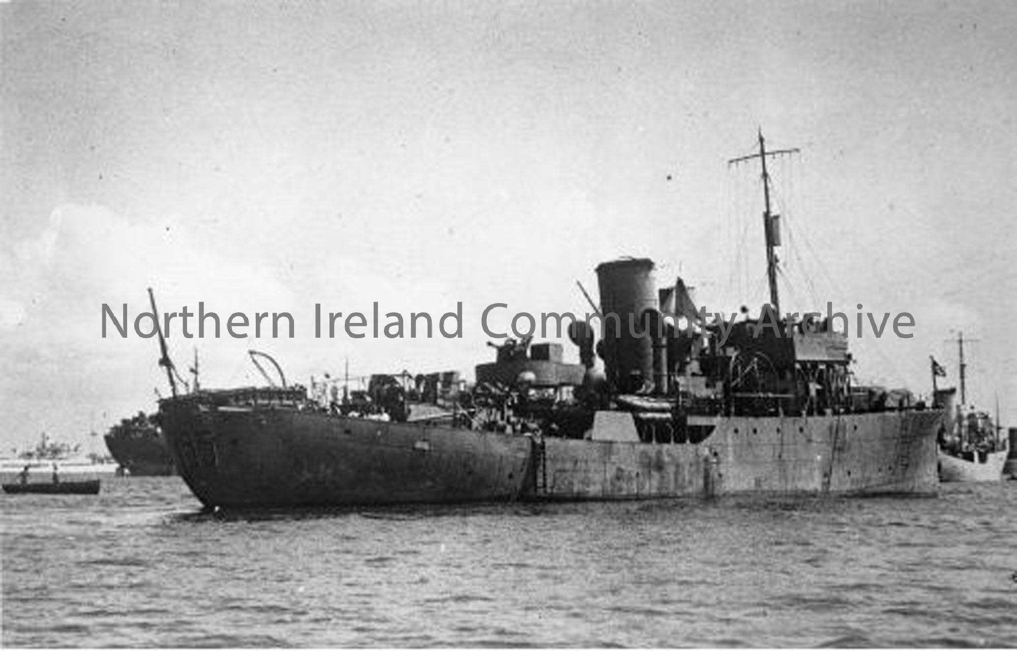 HMS Chrysanthemum  K 195  Ship number 	1104 Launched		11 Apr, 1941  Commissioned	15 Jan, 1942   (6731)