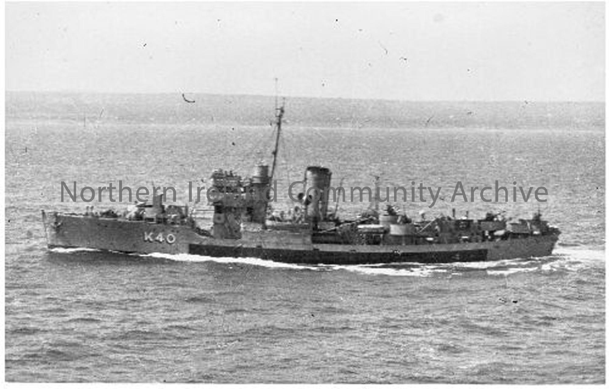 HMS Peony K 40 Ship number 1066 Launched 4th June 1940 Commissioned 2nd August 1940  (6612)