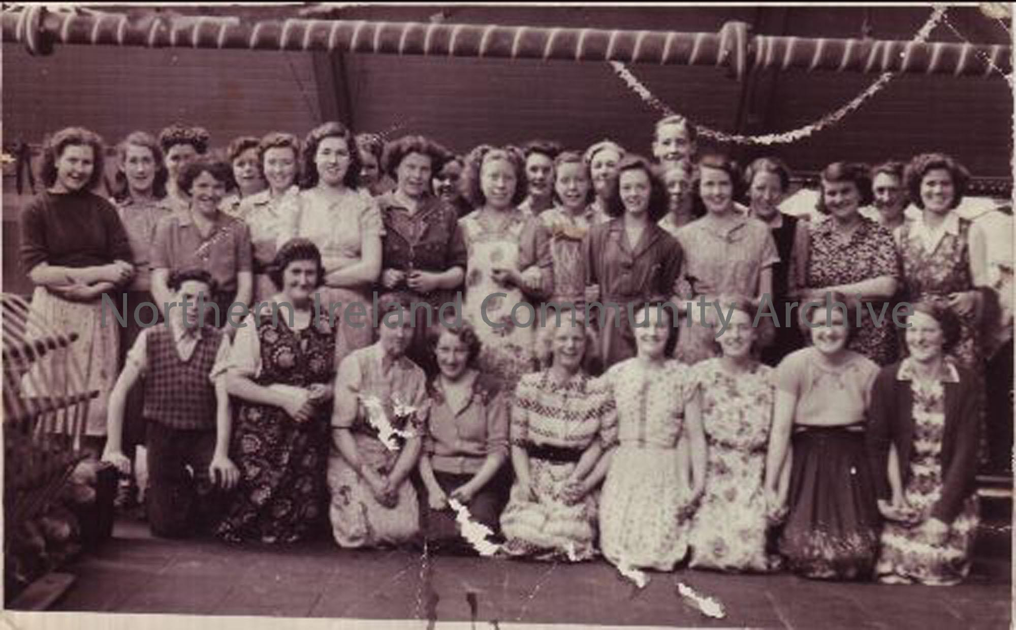 Balnamore Millworkers on the day of Queen Elizabeth's Coronation. (5460)