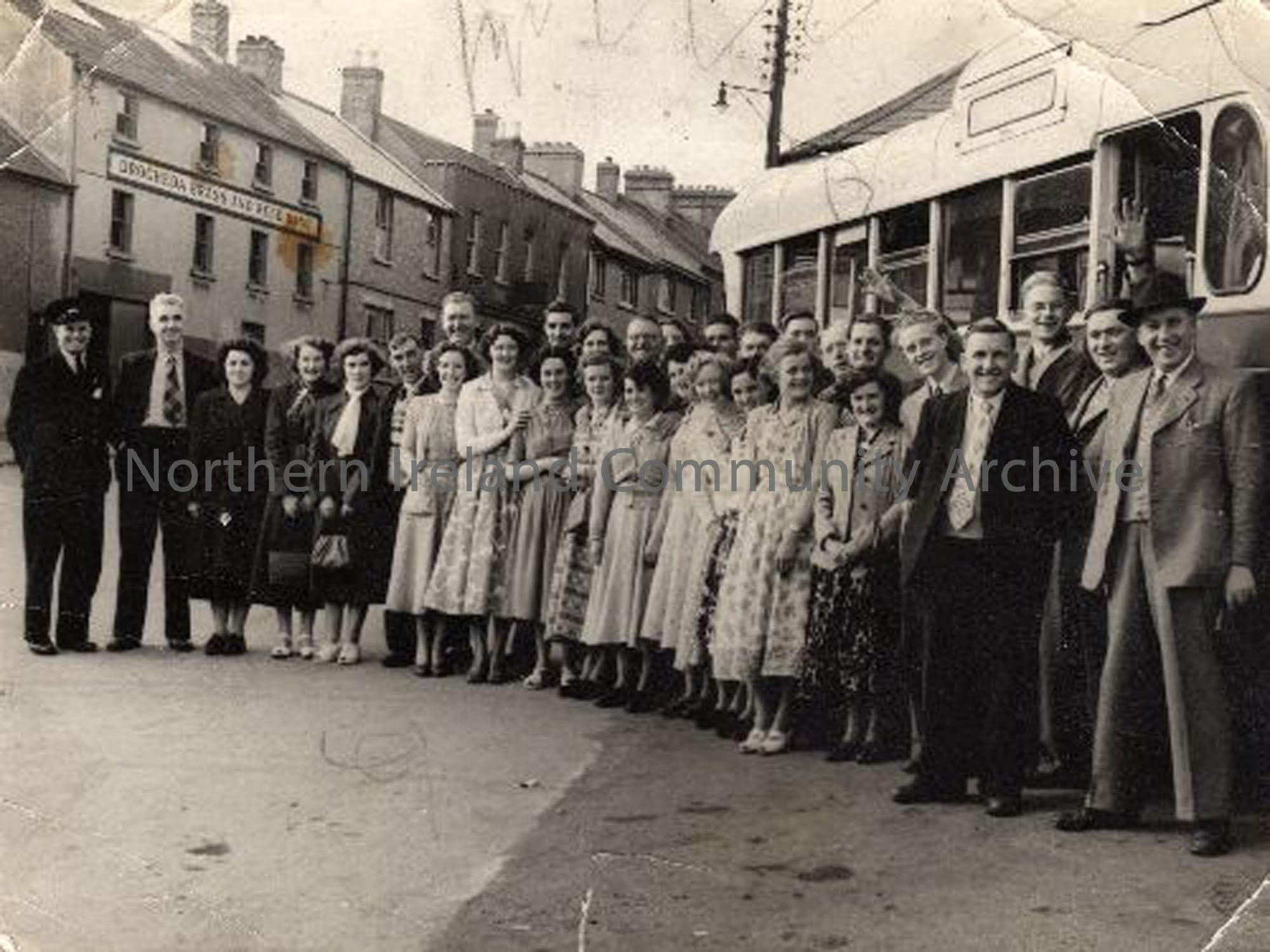 Dervock Cooperative on their annual outing to Drogheda. John Ross was the manager of the CO OP (4559)