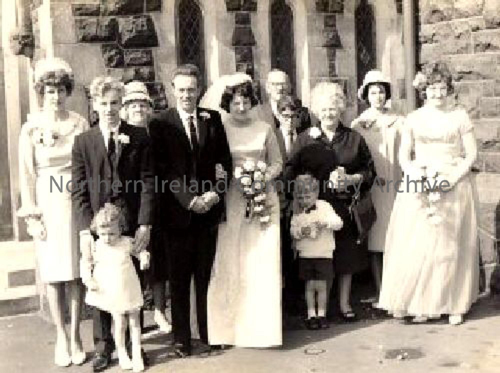 Wedding of Margaret Wilkinson and Patrick Douglas, in Carncullagh Presbyterian Church (1206)