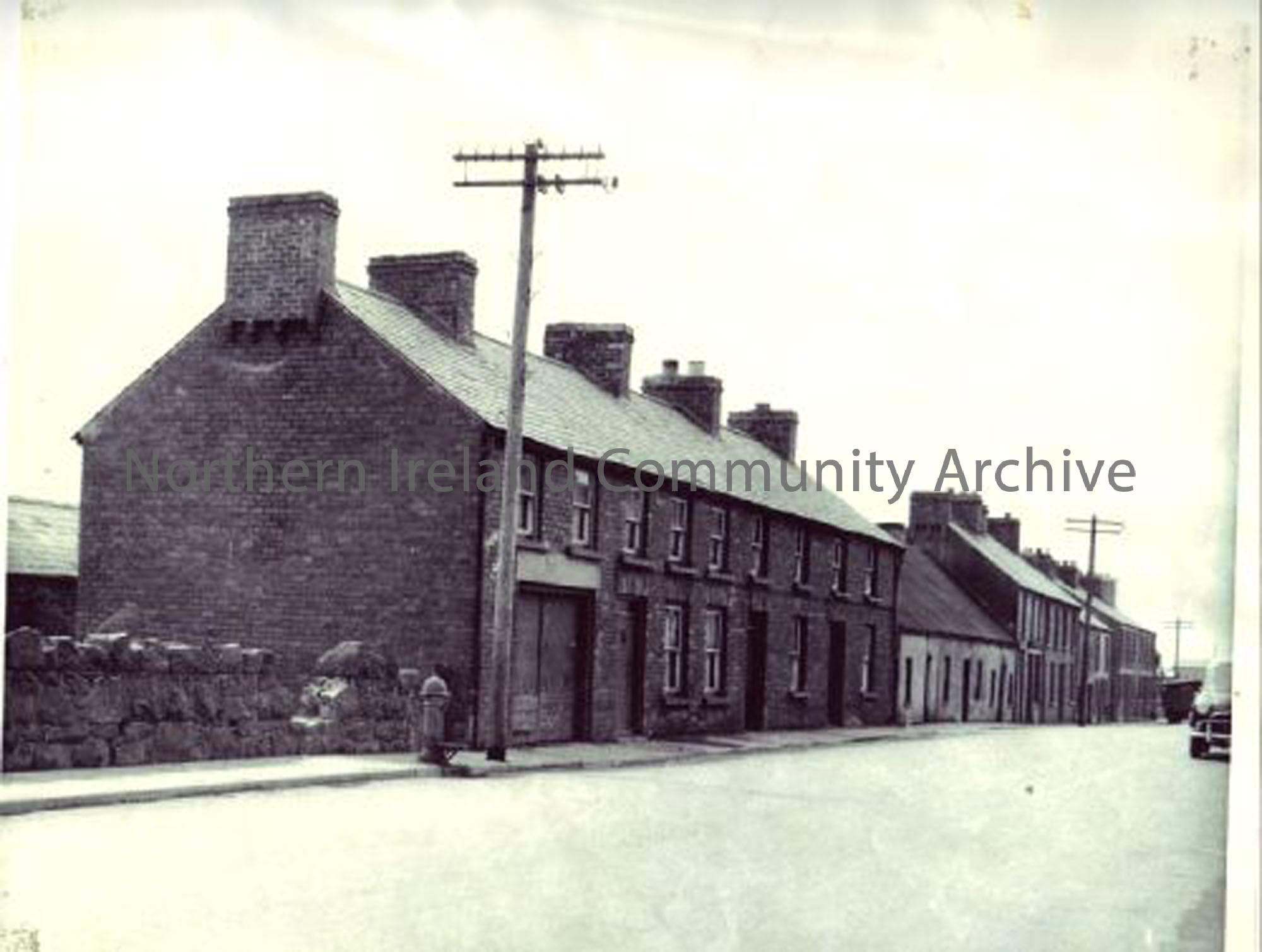 Castle Street, Ballymoney. This is now Castle Street car park. (6653)