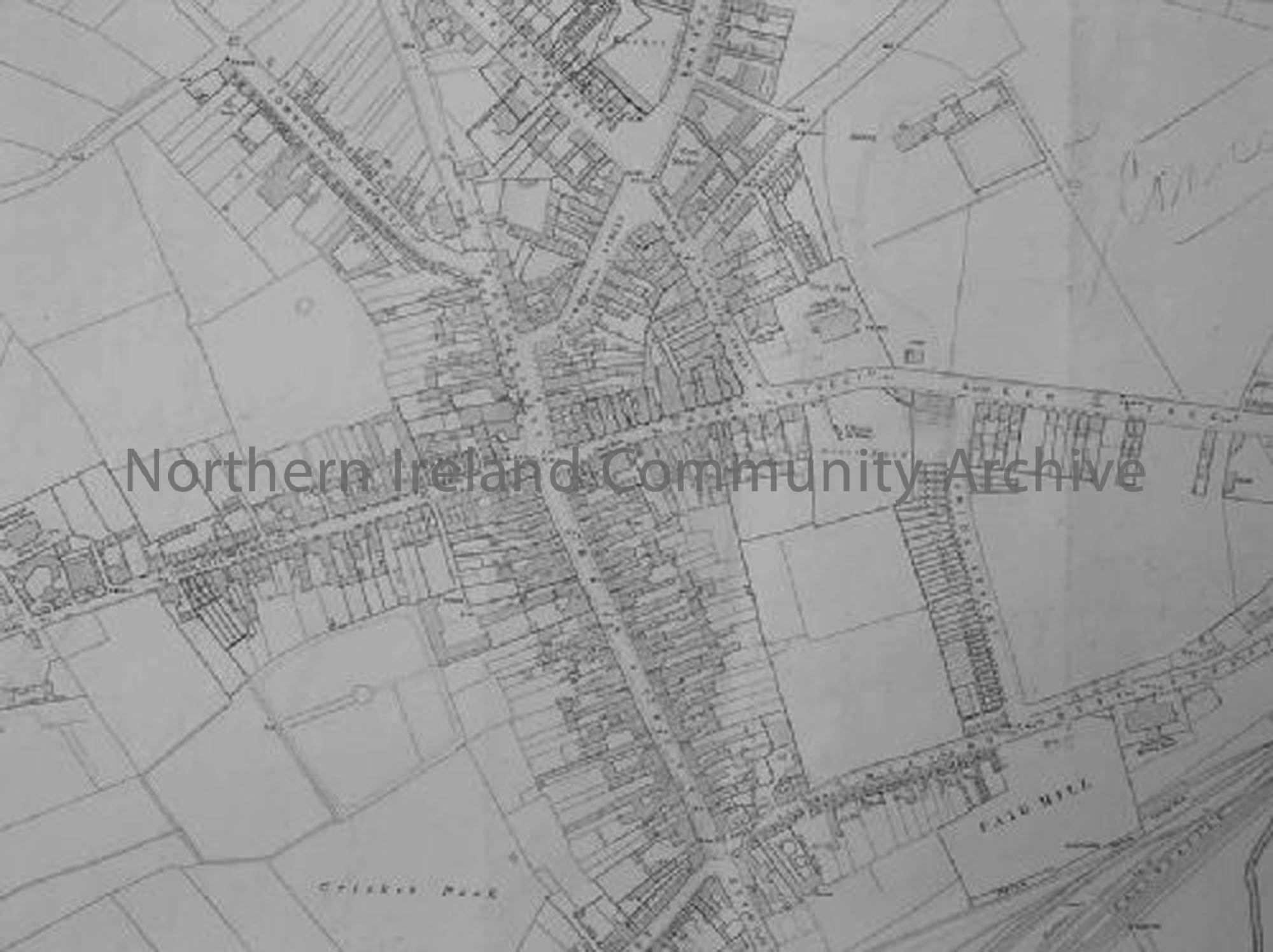 Ordnance Survey map of Ballymoney Town 1895 (6808)