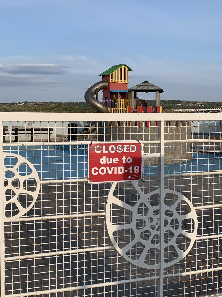 Portrush – Closed play equipment at the Arcadia