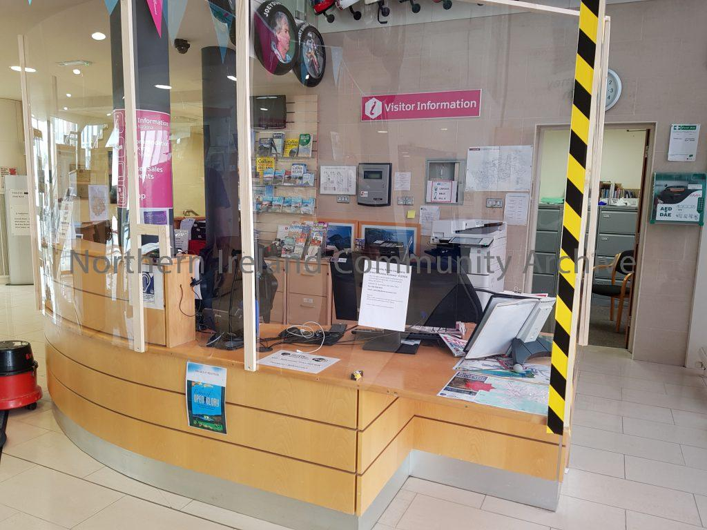 Ballymoney Museum and VIC desk being prepared for reopening after lockdown