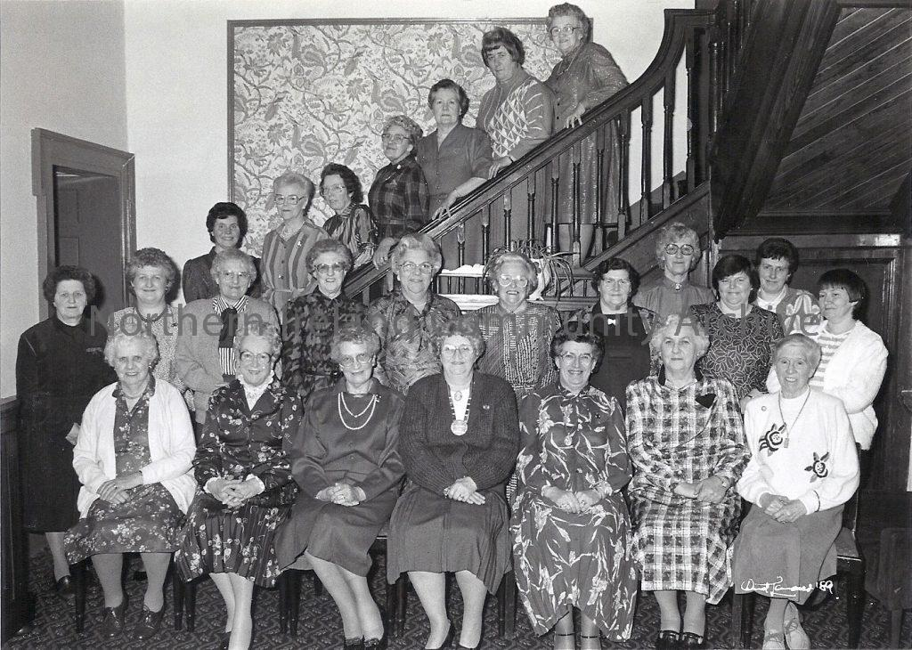 Members of Dungiven Women's Institute celebrating their 40th Anniversary in 1989.