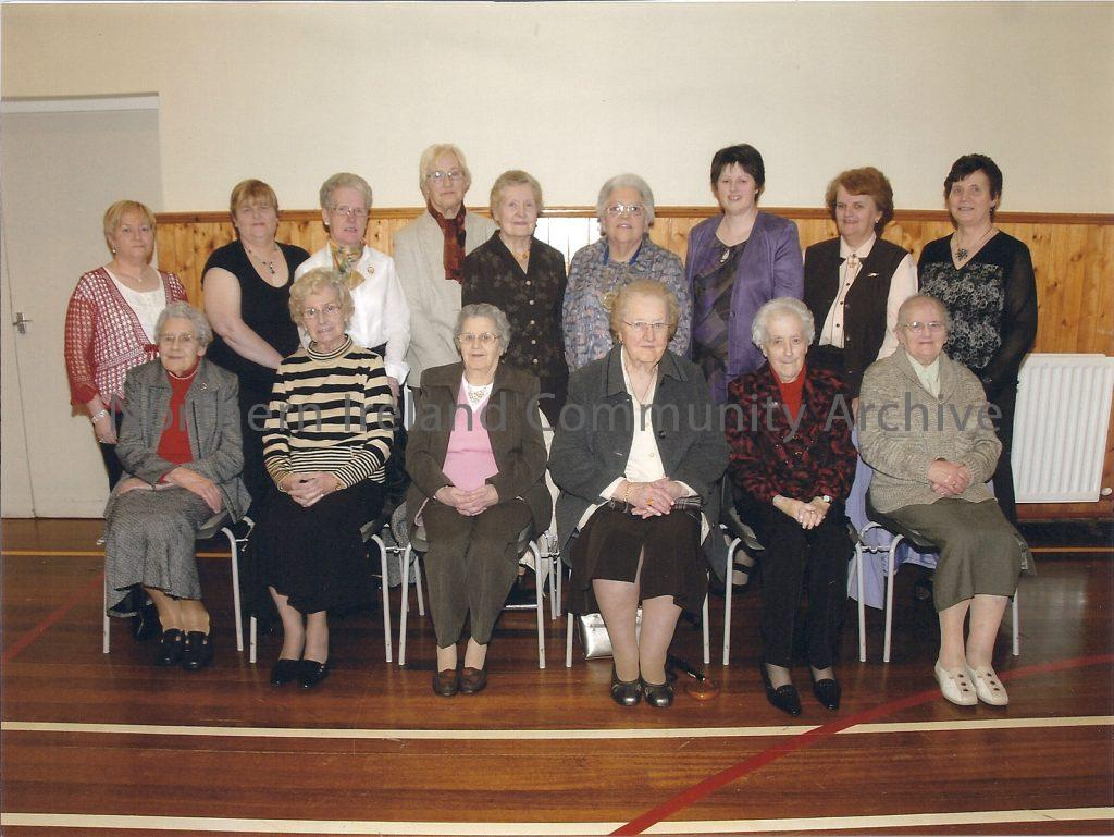 Members of Dungiven Women's Institute celebrating their 60th Anniversary in 2009.