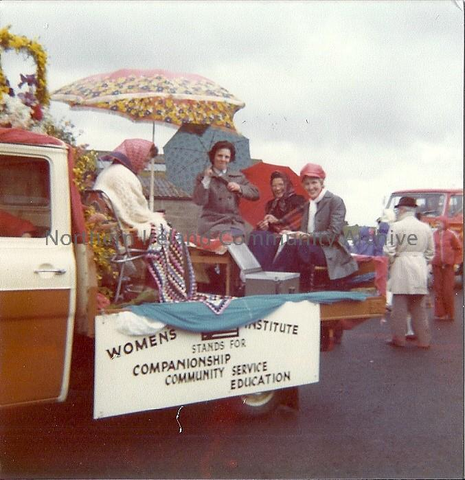 Members of Limavady Women's Institute on their 'Queen's Silver  Jubilee'  float as part of Limavady Civic week in 1978.