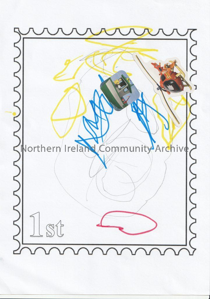 Artwork by Playful Museum Participants in the project 'From me to you- A journey of a postcard'