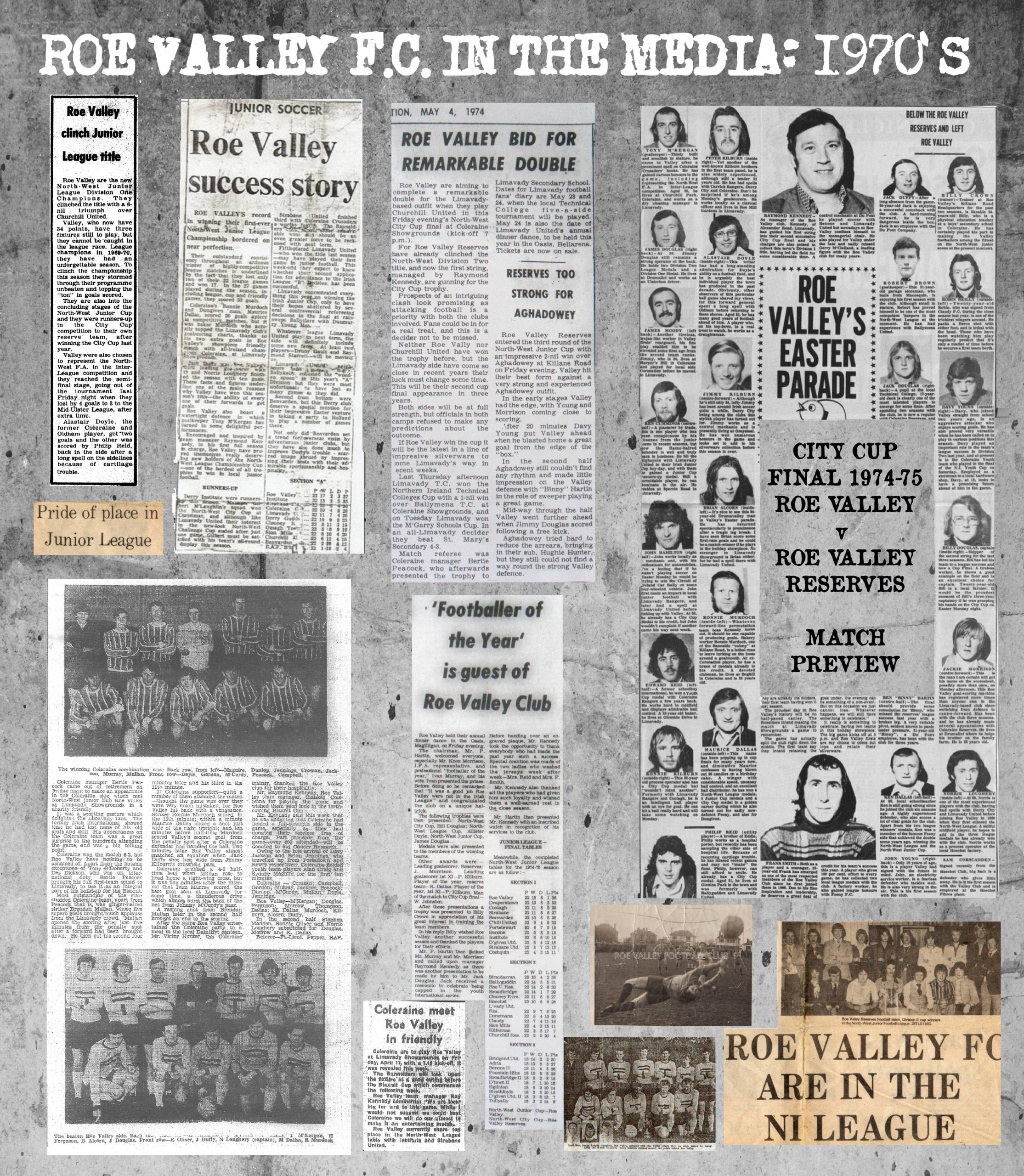 Roe Valley Football Club in the Media: 1970's PDF